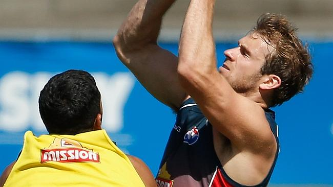 Stewart Crameri (right) could spend more time up the field at the Western Bulldogs.