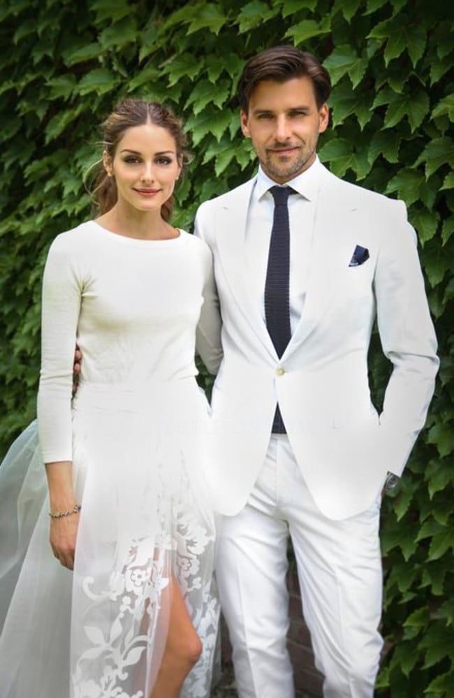 Olivia Palermo and Johannes Huebl on their wedding day.