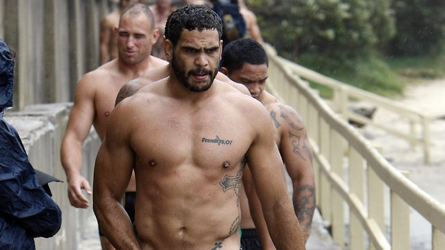 Fit and firing: Greg Inglis. Picture: Mitch Cameron