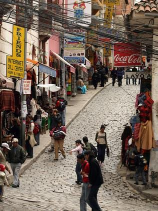 The prison is in the middle of La Paz, the capital of Bolivia.