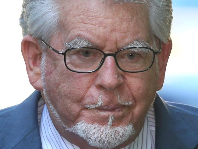 Rolf Harris appeared in court via video link, due to concerns about his age and reported ill health. Picture: Peter Macdiarmid/Getty Images