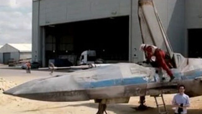 The X Wing is back ... but what's with the blue stripe?