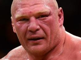 WWE star inflicts low blow on Lesnar