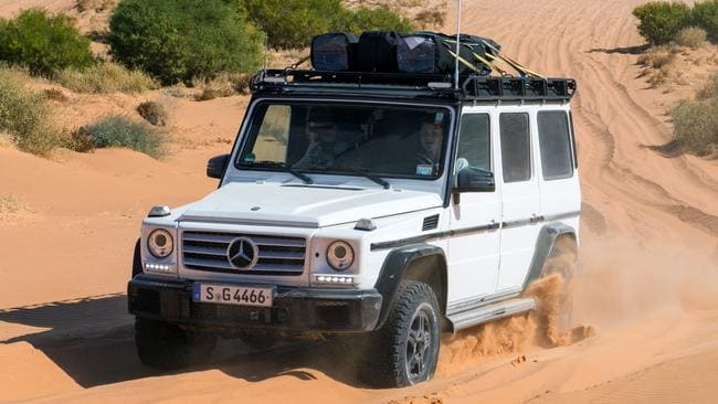 The Mercedes-Benz G300 tackles the Simpson Desert. Pic: supplied.
