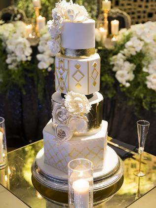 The stunning hexagonal cake. Picture: MM Photos