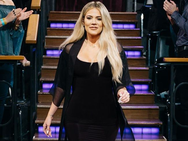 Khloe Kardashian on 'The Late Late Show with James Corden'. Photo: Terence Patrick CBS via Getty Images.