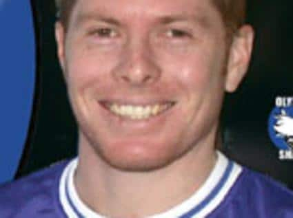 MAY 2002 : Jeromy Harris, Olympic Sharks NSL grand final team member, 05/02. Soccer P/