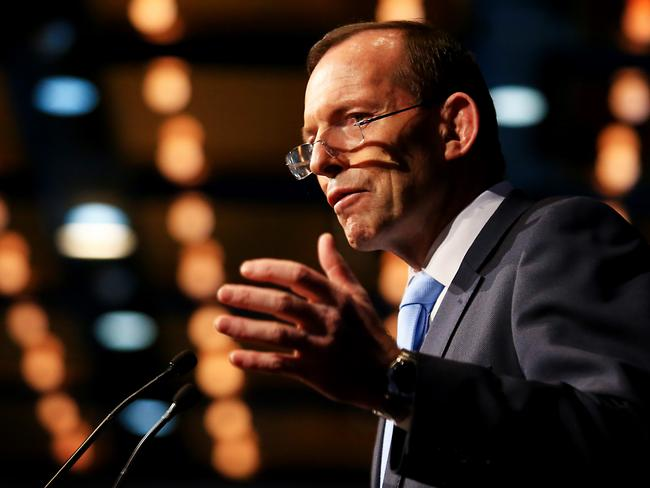 Prime Minister Tony Abbott addresses the Australian Industry Group lunch today in Sydney. Picture: Adam Taylor