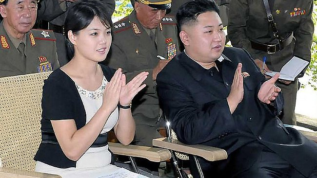 North Korean leader Kim Jong-un and his wife Ri Sol-Ju during a visit to a sub unit of the Korean People's Army Unit 552. AFP PHOTO / KCNA via KNS
