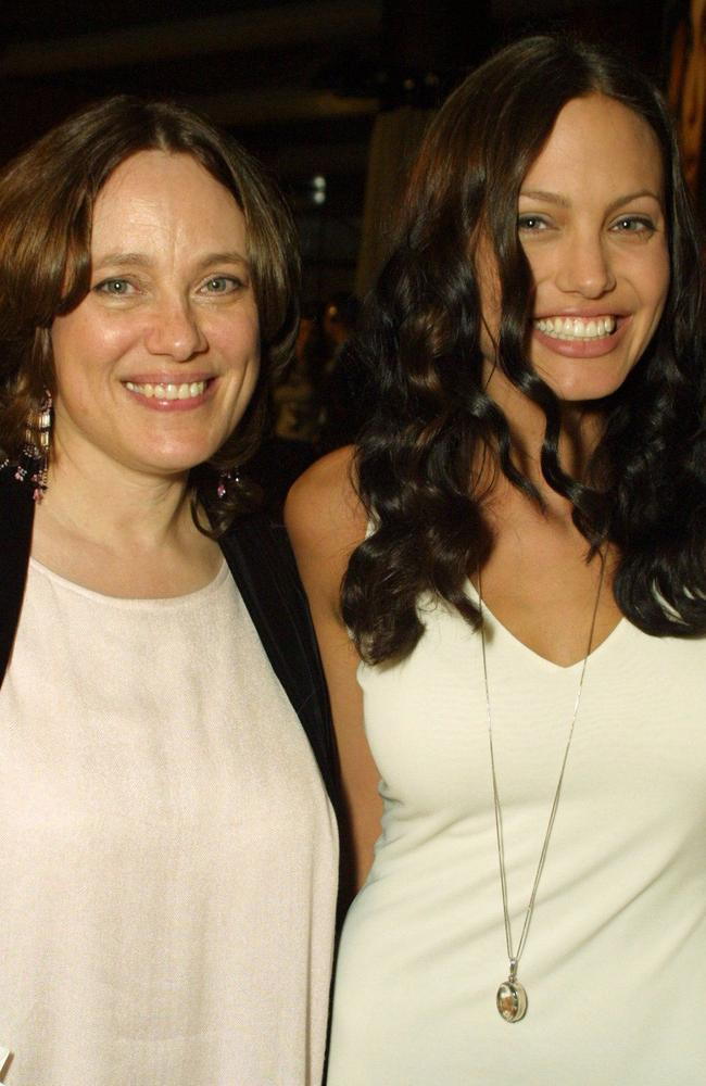 Angelina Jolie with mother Marcheline Bertrand in July 2001 in Los Angeles.