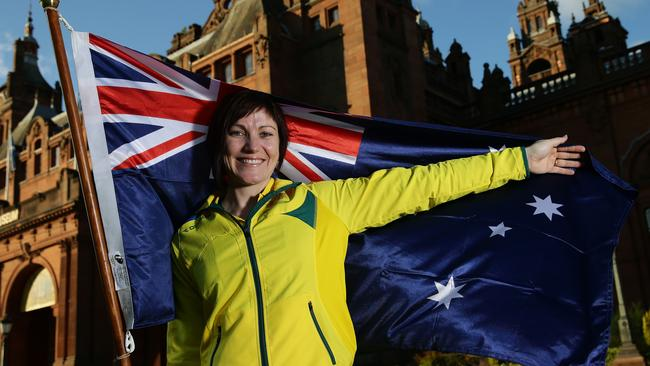 Cyclist Anna Meares will be flag bearer for the Australian Commonwealth Games team at the Glasgow Games. Picture: Adam Head