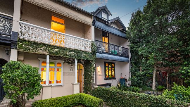 A two-bedroom terrace at 25 Sheehy St, Glebe sold prior to auction for $1.15 million. NSW real estate.