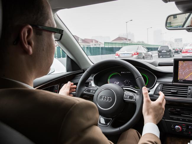 Selfdriving Audi A Limousine On The Road In - Audi car that drives itself