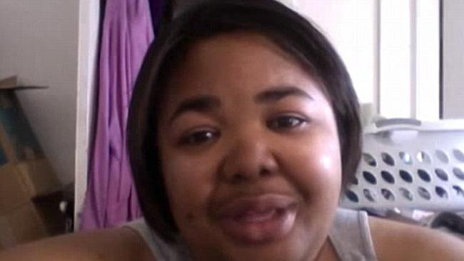 LaKeisha Shurn, 32, from San Francisco, who dropped two dress sizes in 100 days. Picture: YouTube