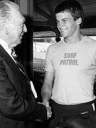 Rex Wright is welcomed into the NSW fold in 1984.
