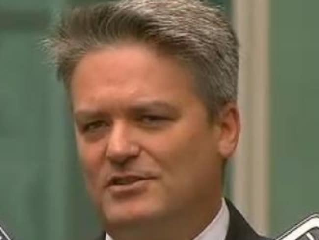 Finance Minister Matthias Cormann. Source: ABC