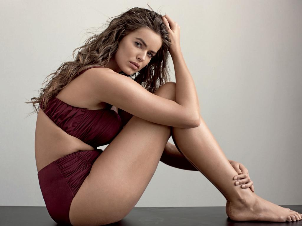 Australian plus-size model Robyn Lawley is pictured as she appears in a photoshoot for Vogue Australia. Picture: Stephen Ward.