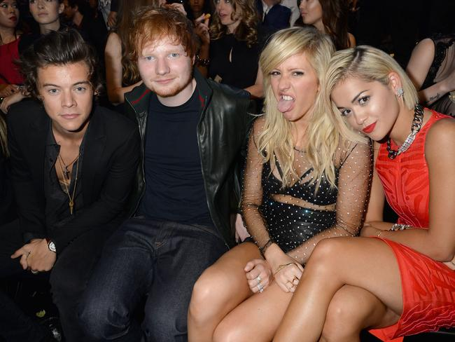 Harry Styles, Ed Sheeran, Ellie Goulding and Rita Ora at the 2013 MTV Video Music Awards in New York.