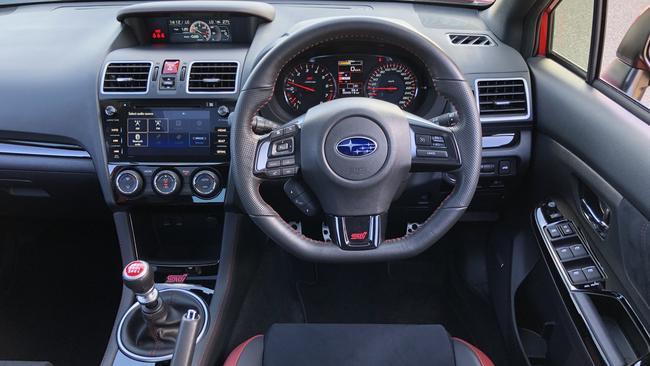 WRX STI: Alcantara trim, red highlights, manual gearbox, info screens ...