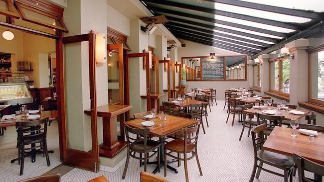 Inside the Bayswater Brasserie at Kings Cross in 2000