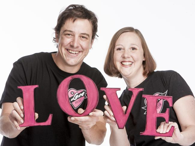 Actor Samuel Johnson and his sister Connie Johnson, who has breast cancer.