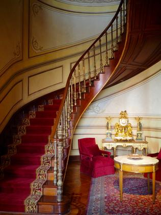 Inside the lavish Chapultepec Castle. Picture: Leah McLennan