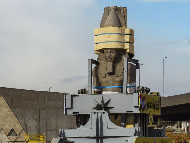 Ramses II was discovered in 1820 near ancient Memphis by Giovanni Battista Caviglia, a key figure in the excavation of the Sphinx of Giza. Picture: AFP Photo/Mohamed El-Shahed