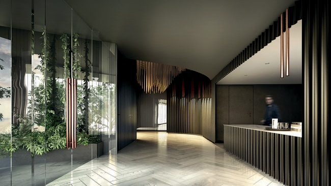 Architects rothelowman say residential apartments using for Hotel lobby design trends