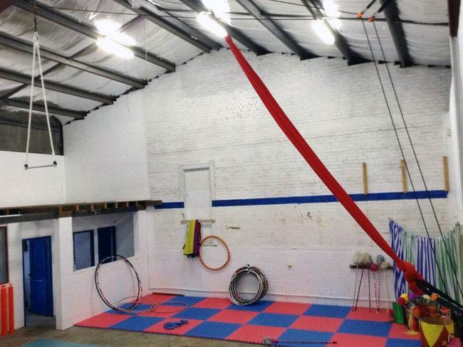 Inside the circus training school in the NSW Blue Mountains, where three boys under the age of eight were allegedly physically and sexually abused. Picture: Facebook