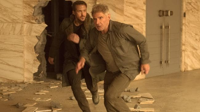 Gosling and Ford star in  <i>Blade Runner 2049. </i>Picture: Supplied.