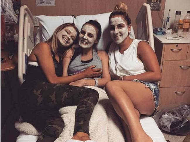 Crystal Brown with her friends. Source: Gracie O'Sullivan.