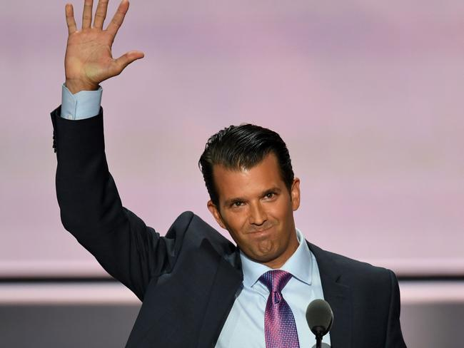 Donald Trump, Jr. has slammed the Mayor's comments. Picture: AFP
