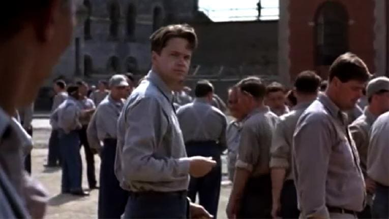 a comparison of the movies shawshank redemption and murder in the first Two life sentences for a 1947 double murder land an innocent man in a maine prison  movies what's new new releases  the shawshank redemption:.