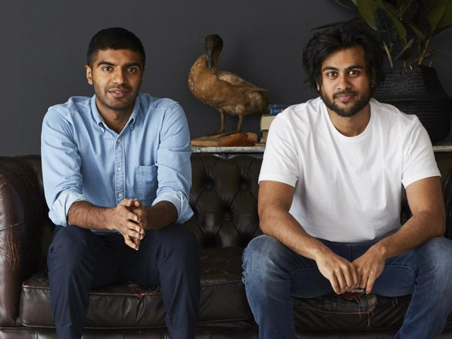 Sleeping Duck founders Selvam Sinnappan, left, and Winston Wijeyeratne.