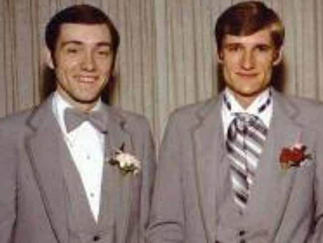 Kevin Spacey's brother Randy Fowler and Kevin. Picture: Facebook.