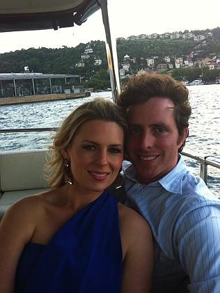 The couple on Sydney Harbour. Kate and Anton met at a friend's party in Wahroonga when they were just 15.