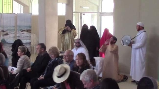 gosford muslim A far-right nationalist group that links itself with pauline hanson stormed a church service on sunday dressed in mock muslim attire and chanting anti-islamic slogans.