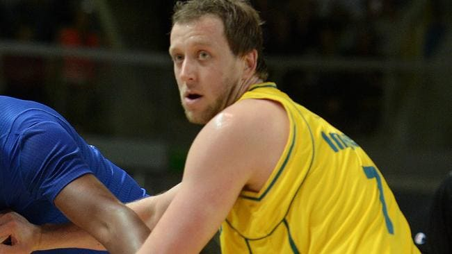 Joe Ingles during the friendly basketball match between France and Australia.