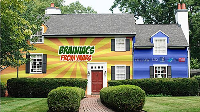 Brainiacs From Mars paints the entire outside of the house, minus the roof, windows and any awnings. Picture: Courtesy of Brainiacs From Mars
