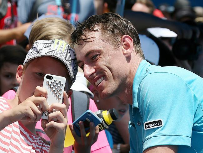 John Millman won the Australian Open on day two