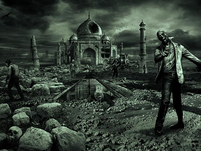 India's Taj Mahal overrun by the walking dead. Photo: DesignCrowd.com.au