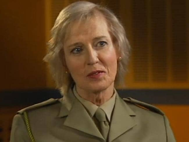 Warned and counselled ... Lieutenant Colonel Cate McGregor, formerly Malcolm McGregor, was General Morrison's speech writer. Picture: ABC-TV