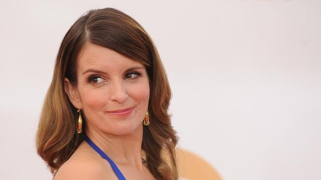 Tina Fey arrives on the red carpet for the 65th Emmy Awards. Photo: AFP