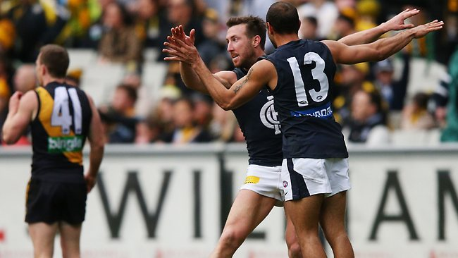 Alive ... Carlton are still in the hunt for the finals.