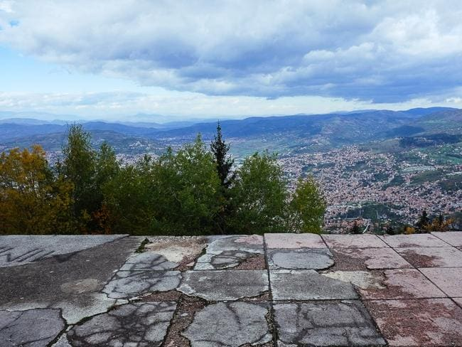 The view over Sarajevo from Mount Trebevic. Picture: Nate Robert/yomadic.com