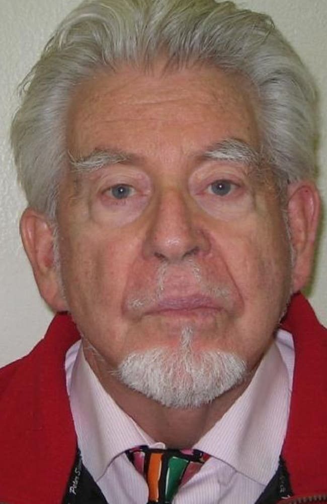 Now in jail ... the mugshot taken by police in London after Rolf Harris was arrested.