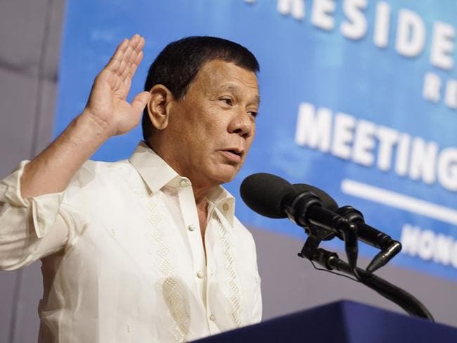 Philippine President Rodrigo Duterte has been invited to the White House despite his controversial approach to his country's war on drugs. Picture: AFP