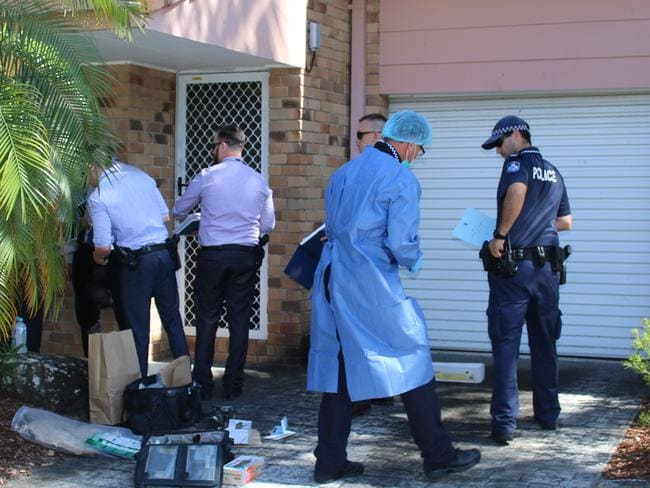 Forensic officers scoured the scene for clues and fingerprints while detectives and plainclothes police spoke to neighbours.