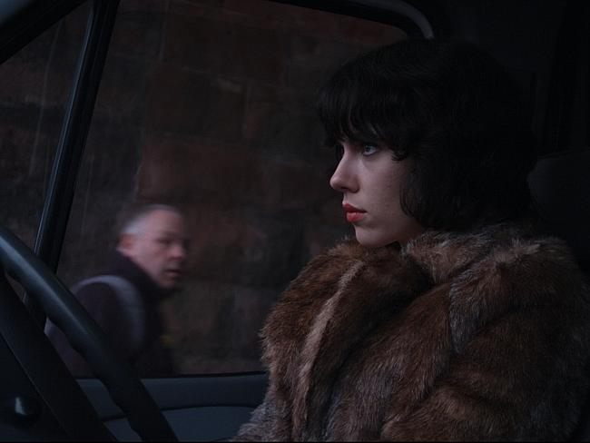 Scarlett Johansson in a scene from  <i>Under the Skin</i>.