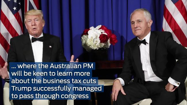 Prime Minister Malcolm Turnbull is heading the most powerful delegation of  Australian political and business leaders ever sent to the US. (AAP Video)